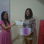 Finley mendapatkan sertifikat dan hadiah uang tunai. Kini ia tengah belajar di Guangzhou, China.